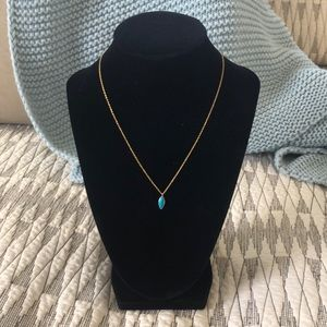 NET Gorjana Turquoise Layering Adjustable Necklace